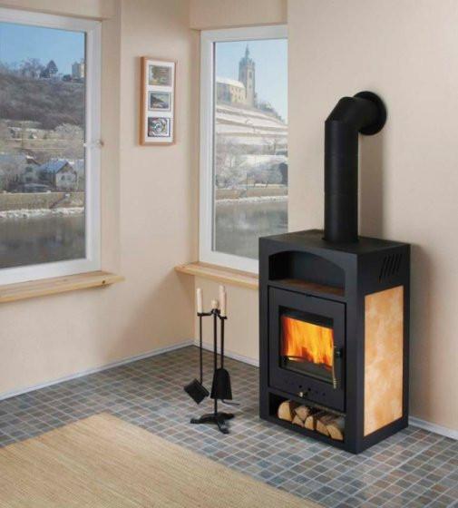 Печь для обогрева деревянной дачи с котлом Haas+Sohn Adria 2