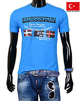 Синяя подростковая футболка.
