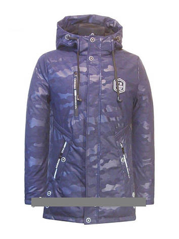 """Детская  демисезонная куртка-парка для мальчика""""MH"""" 822 , размеры от 146, 158, фото 2"""