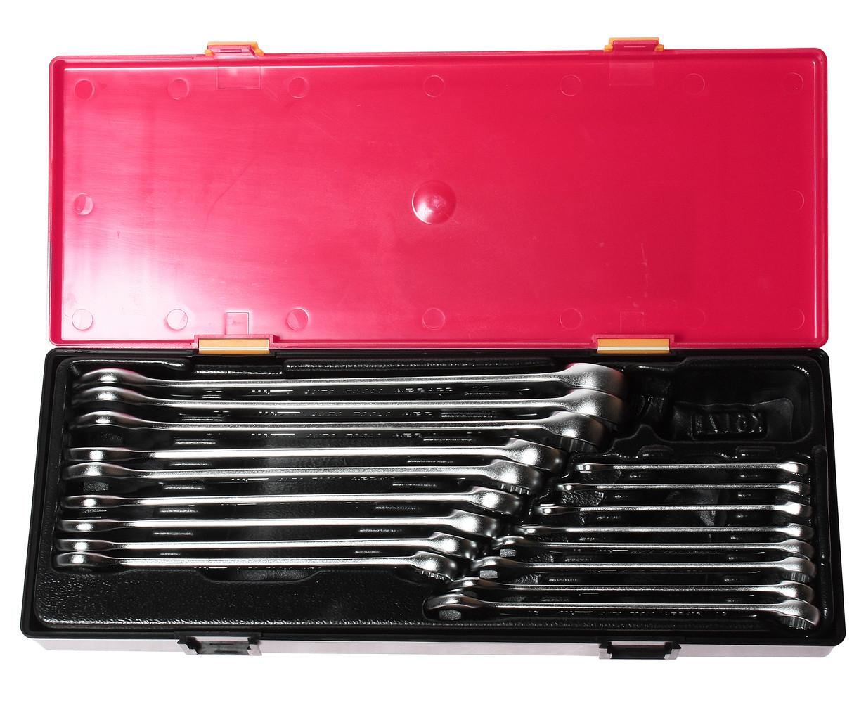 Набор рожково-накидных ключей 6-23мм. 17ед. (ЕВРО-ТИП) (K6172 JTC)