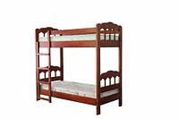 Двухъярусная кровать из натурального дерева Капитошка