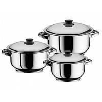 """Набор посуды из нержавеющей стали """"Aristel"""" из трех кастрюль 6л, 8,5л, 11л """"Arian Pot"""" (06006)"""