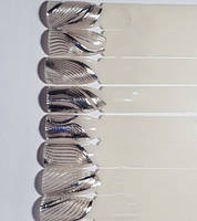 Лента для дизайна ногтей ( 3D нити сплетения гибкие ) серебро