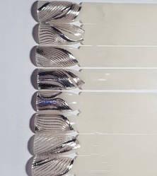 Стрічка для дизайну нігтів ( 3D нитки сплетення гнучкі ) срібло