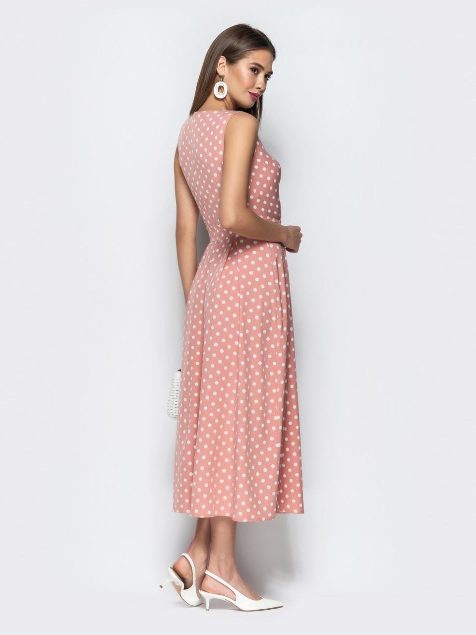4e61904050b ... Романтичное женское платье в ретро стиле в горошек р.44