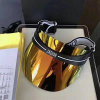 Кепка-козырек Dior Diorclub1, козырек-очки от солнца J`adior, кепка женская, козырек от солнца