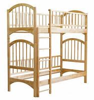 Разборная двухъярусная кровать из натурального дерева Кузя