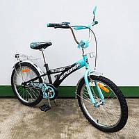 "Велосипед Tilly Explorer 20"" T-22018 black + turquoise"