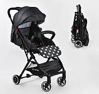 """Коляска прогулочная детская С - 540 """"JOY"""", цвет темно-серый, футкавер, дождевик, съемный бампер"""