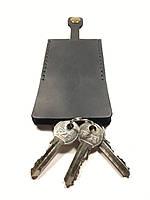 Ключница кожаная для ключей Goose™ Classic черный (чехол для ключей)