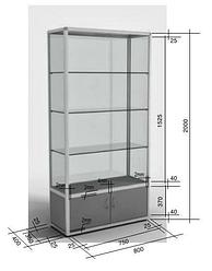 Виды крепления наполнения из ДСП в витрины и прилавки из алюминиевого профиля.