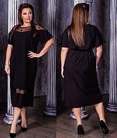 Платье женское со вставками из звезд батал  ям04001, фото 1
