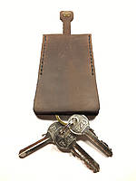 Чехол для ключей кожаный Goose™ Classic коричневый (ключница для ключей), фото 1