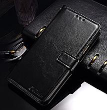 Кожаный чехол-книжка для iphone XR (6,1'') черный