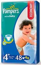 "Подгузник ""Pampers"" Active Baby p.4+ (9-16 кг) №48"