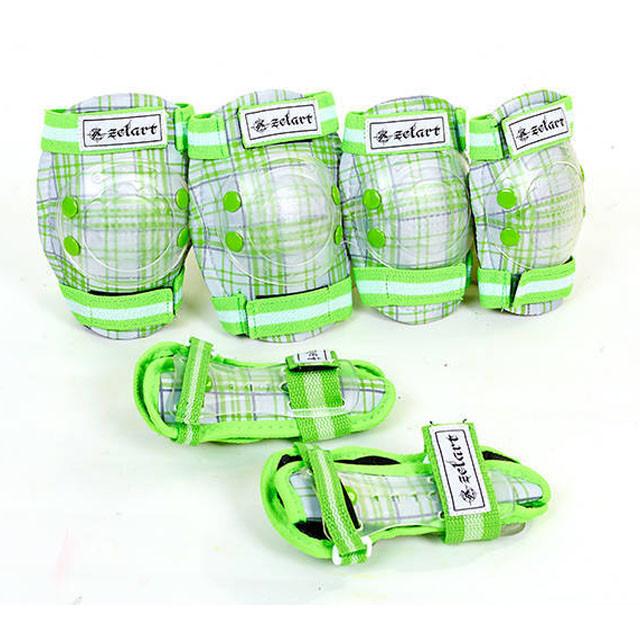 Защита для роллеров детская зеленая SK-4678