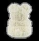 Мишка из 3D роз 40 см белый, фото 5