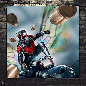Постер Человек-муравей, Ant-Man, Марвел. Размер 60x60см (A1). Глянцевая бумага