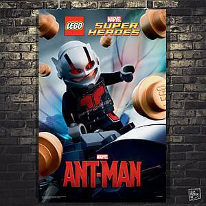 Постер Человек-муравей, Ant-Man, Лего, Lego. Размер 60x41см (A2). Глянцевая бумага