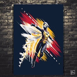 Постер Человек-муравей и Оса, Ant-Man and the Wasp, Марвел. Размер 60x43см (A2). Глянцевая бумага