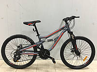 Подростковый двухподвесной велосипед Crosser Legion 24