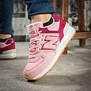 Кроссовки женские New Balance 574, розовые (15717) размеры в наличии ► [  37 38 39 40  ], фото 4