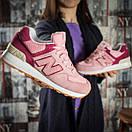 Кроссовки женские New Balance 574, розовые (15717) размеры в наличии ► [  37 38 39 40  ], фото 6