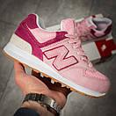 Кроссовки женские New Balance 574, розовые (15717) размеры в наличии ► [  37 38 39 40  ], фото 7