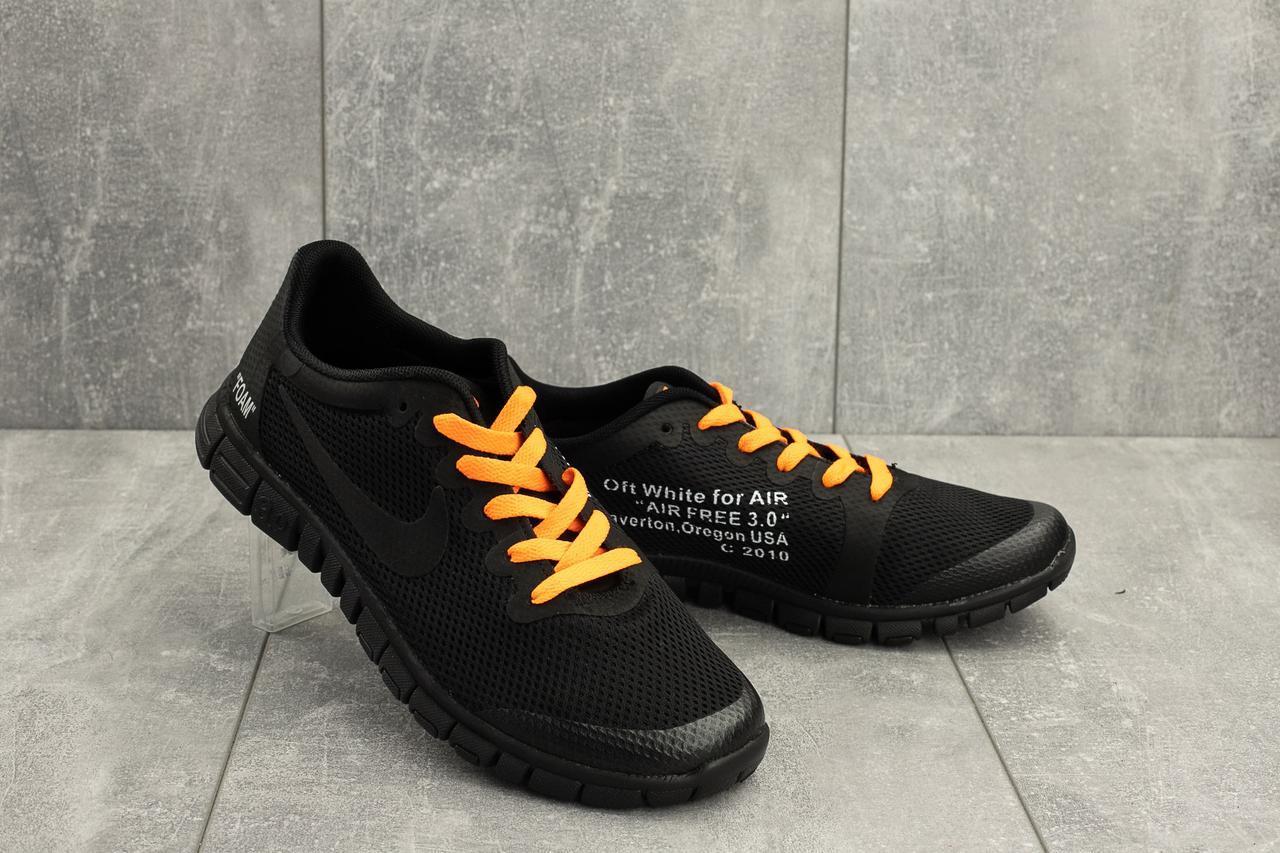 Мужские кроссовки текстильные летние черные G5092-2