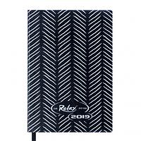 Ежедневник датированный 2019 Buromax Design RELAX, черный, А6 (BM.2534-01)