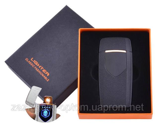 USB запальничка в подарунковій коробці Lighter HL-57 Black (Спіраль розжарювання)
