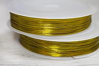 Проволока 10 метров 0.30мм золотая