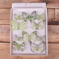 Оригинальный декор набор Бабочек 8 и 5 см Мелкий декор.