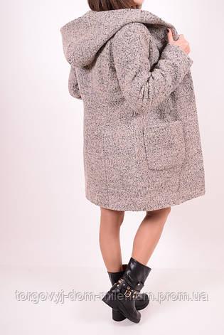 Полупальто женское шерстяное букле  (цв.св/коричневый) Алена Размер:40,44, фото 2
