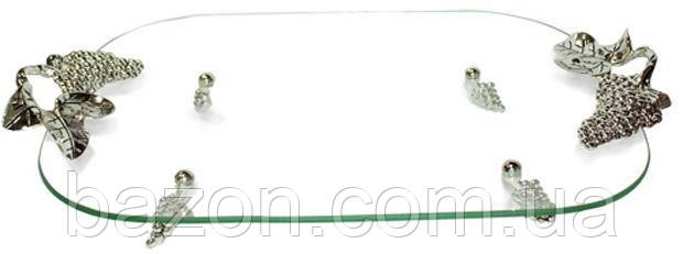 Блюдо Grapes прямоугольное с ручками декоративное 42х28х9см