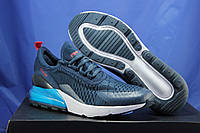 Мужские лёгкие кроссовки сетка синие Ax Boxing