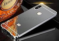 Чехол зеркальный Xiaomi  Mi 8, рамка алюминий, зеркало акрил