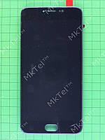 Дисплей Meizu M3 Note с сенсором, панелью, rev L681h, черный self-welded