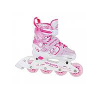 Детские раздвижные роликовые коньки Tempish Swist Flash розовые , фото 1