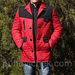 Демісезонна чоловіча куртка червона молодіжна