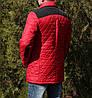 Демисезонная мужская куртка красная молодежная, фото 2