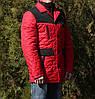 Демисезонная мужская куртка красная молодежная, фото 5