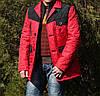 Демисезонная мужская куртка красная молодежная, фото 3