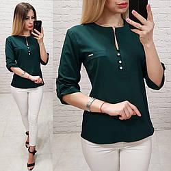 Блуза женская, софт, модель 830, цвет - бутылочка