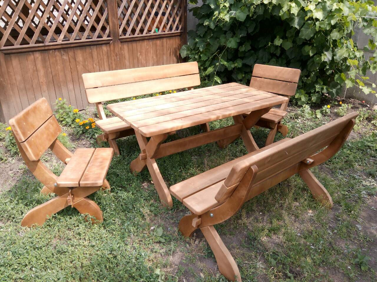 Импрегнация деревянной садово-парковой мебели