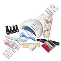 Стартовый набор для маникюра My Nail с Лампой SUN One (48W LED+UV) (1 цветной лак) + фрезер