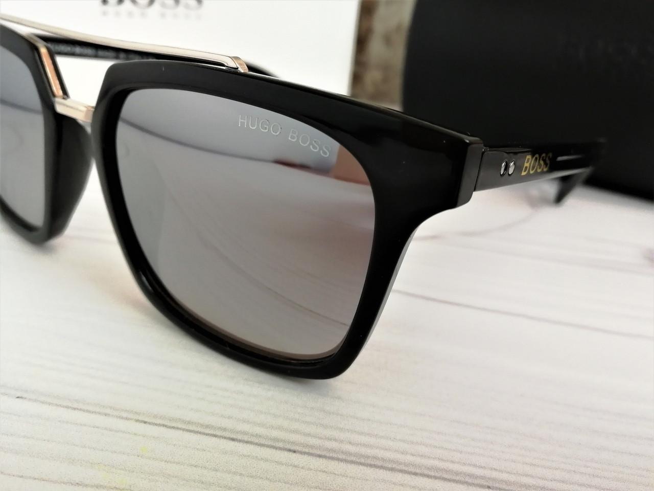 814db179e6c7 Новые Мужские Солнцезащитные Зеркальные Очки Hugo Boss Качественные Очки  Хуго Босс ...