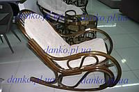 Кресло - качалка 0504 из натурального ротанга с мягким сиденьем - подушкой