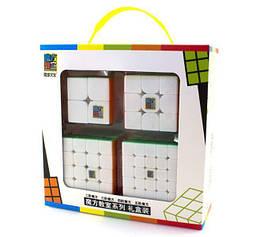"Набор головоломок кубиков ""MoYu MoFangJiaoShi"", 4 в 1 белый пластик"
