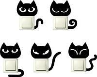 Наклейки на розетки и выключатели Набор кошек